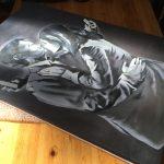 stretched artwork