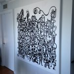 Large artwork - stretched on site.