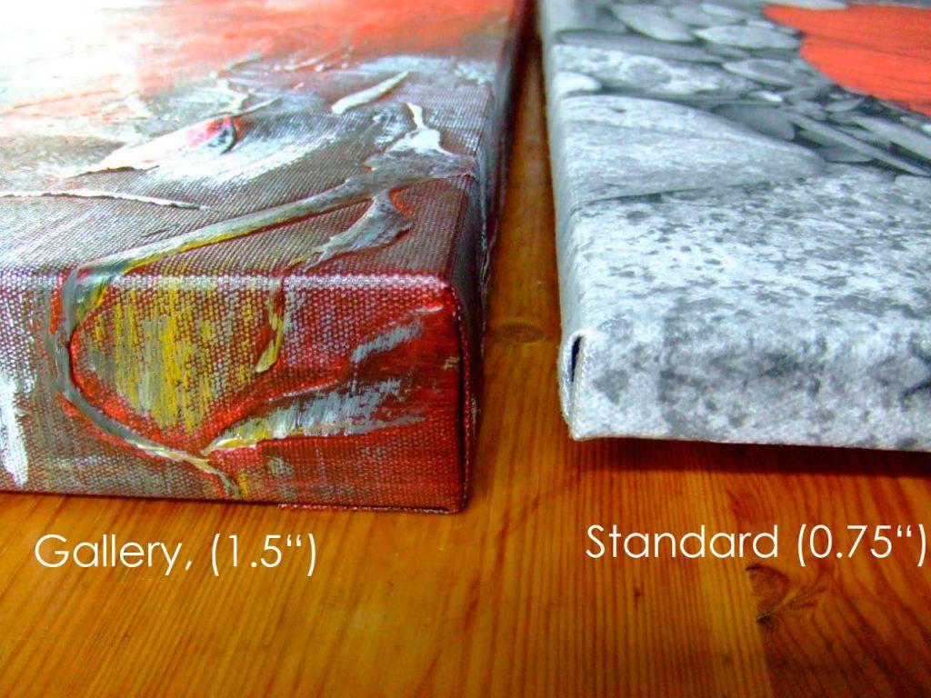 standard & gallery frame comparison